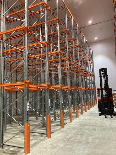 Pallet Racking Frame Column Guard (floor mounted and foam filled)